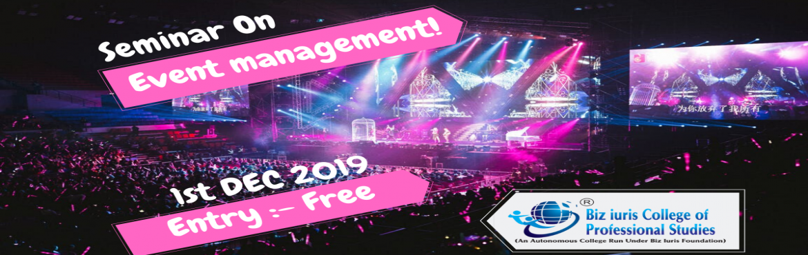 Book Online Tickets for Free Seminar on Event Management , Pune.   Topics  will Cover  How to start your own event management Business. Doing market research, Business Plan & SWOT analysis Business set- up, Documentation & Required licensing.  Resources, Networking & Vendor  De