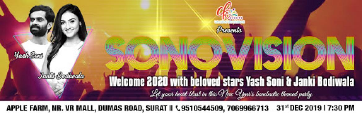 Book Online Tickets for Sonovision | 31st Dec New Year Party | D, Surat. ❤ FOR THE FIRST TIME IN SURAT ❤ Here\'s a super unique and unimaginable New Year party for the lovely people of Surat. This is not just any other 31st night DJ party, this is THE PARTY.This time, we bring to your city the never-seen-before L