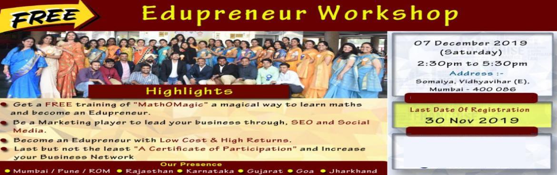 Book Online Tickets for Edupreneur Workshop - Walnut Excellence , Mumbai. Edupreneur Workshop - Walnut Excellence Education  Workshop Highlights: Get a FREE training of \