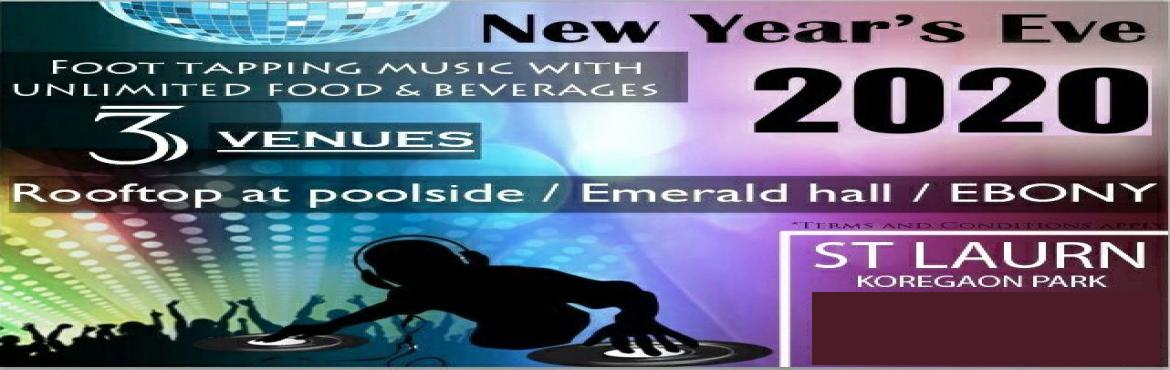 Book Online Tickets for EBONY- NYE 2020 at ST LAURN HOTEL, KP, P, Pune. DJ Music at Ebony Music to Dance Gala Lavish Unlimited food and Beverages Alcohol Complementaryfood for below 3 years children Tattoos Gift Voucher Valet Parking Terms & Conditions Apply, As per the Government Rules Highlights Entry to Part