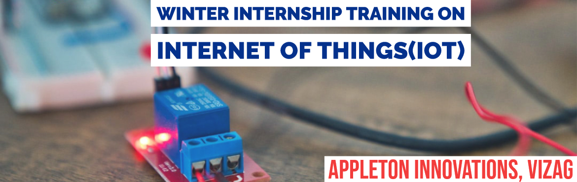 Book Online Tickets for Winter Internship Training On Internet o, Visakhapat. India\'s Biggest Internet of Things Internship TrainingEver. Learn Latest Hardware, Software, Communication and Cloud Tools and Technologies from Experts and work on more than 25 Real-time Projects in IoT. Learn from Industry experts and IIT Bo