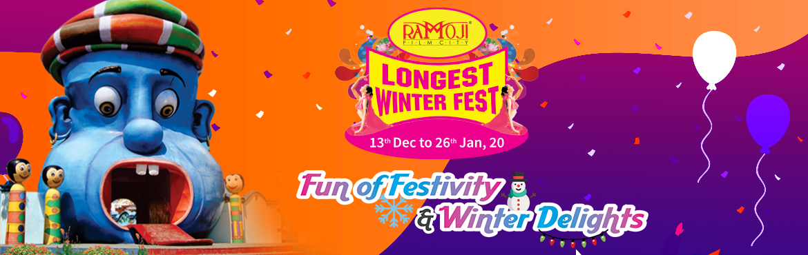 Book Online Tickets for WINTER FEST - RAMOJI STUDIO TOUR, Hyderabad.  Guided tour of Ramoji Film City in Non-A/c Vintage Bus (10am to 5pm). Visit to Bahubali set and be part of the Mahishmati kingdom Live Show - Sprit of Ramoji Live Action Stunt Show at Wild West area Visit Action Theatre – Experience the magic