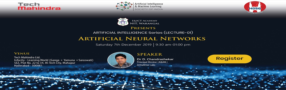 This is a 3-part lecture series in the emerging areas of Artificial Intelligence. This series is conducted as a part of the community engagement of NI