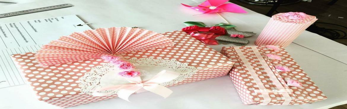 Book Online Tickets for Gift wrapping workshop, Hyderabad. Gift Wrapping Workshop As wedding season is round the corner come learn the art of gift wrapping to do it all by yourself,to give a unique touch to it to gift your near n dear ones.You will learn different techniques using different options for packi