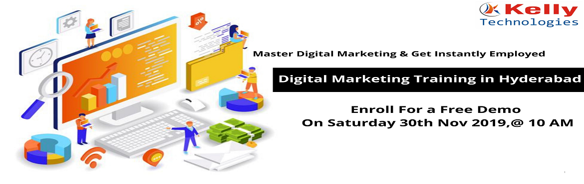 Book Online Tickets for Sign Up For Free Digital Marketing Demo , Hyderabad. About The Demo: Digital Marketing is one of the on-demand online marketing platforms which has acquired a lot of demand within a short span of time. Availing a career in this highly dynamic profession of Digital Marketing will surely launch your care