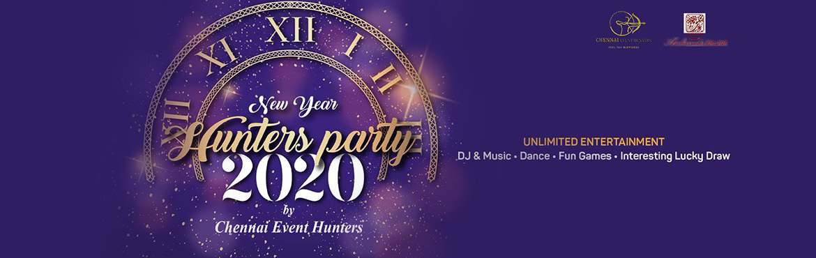 Book Online Tickets for New year Hunters party 2020, Chennai. The Chennai event hunters hosting a new year party at hotel Ambassador Pallava on 31st December 2019 from 8 PM to 12 PM. This event features the music, Dance, EMCEE games and interesting lucky draws. Hunters party 2020 Includes  Unlimited food