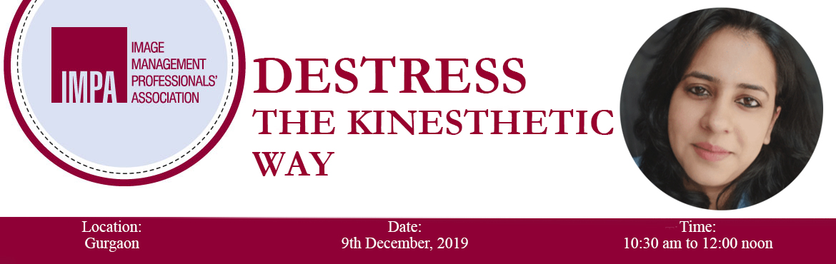 Book Online Tickets for Destress the Kinesthetic Way , Gurugram. Richa Negi is an Image Consultant, the chief creator at Last Mile Krafted, and a development sector professional. She has innovatively amalgamated the art of Decoupage as an interactive tool for her corporate programmes in stress management.It\