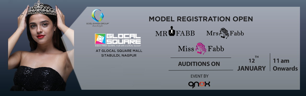 Book Online Tickets for Miss / Mrs / Mr Fabb Nagpur Auditions 20, Nagpur. Audition for biggest beauty pageant of Nagpur city. Once you are selected in the audition you will go through the training and grooming session 17th, 18th, 19th, 23rd, 24th and 25th January 2020. Fees of Rs 7500 will be applicable for the finalist wh