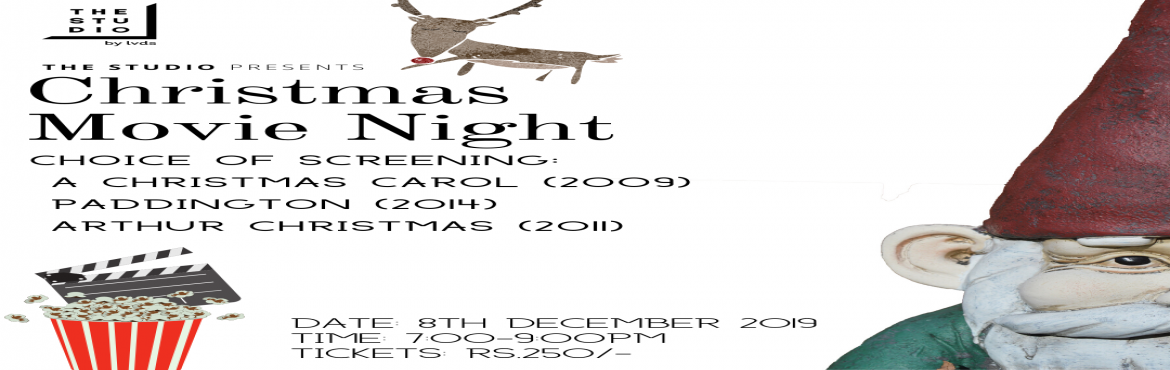 Book Online Tickets for Christmas Movie Night, Bengaluru.  The Studio is hosting it's annual Christmas Movie Screening. Come join us for an evening of festivities, learning, sharing and growing.   Age group – 3-100 Bring your friends!