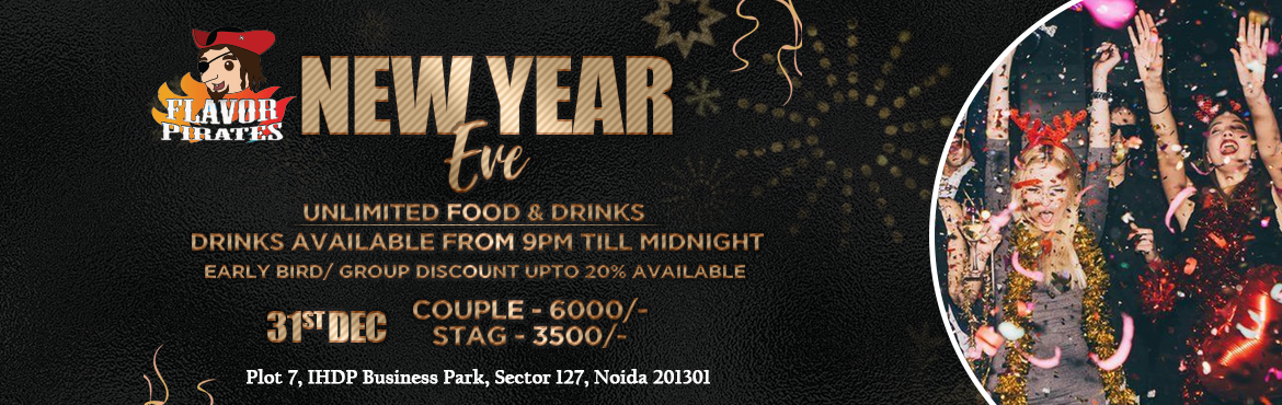 Book Online Tickets for Flavor Pirates New Year Party , Noida. Flavor Pirates New Year Party  Terms & Conditions :  · Must carry govt ID proof for entry. · Should carry a copy of their passes either in print or on phone. · Management reserves the rights to deny entry if found i