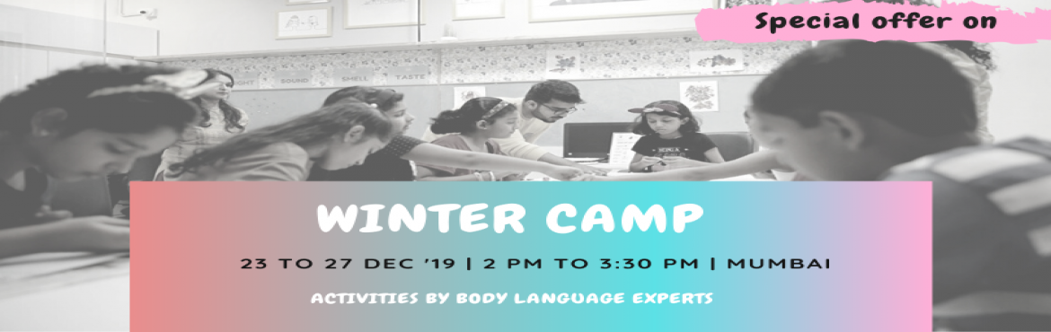 Book Online Tickets for Winter Camp by CueKids, Mumbai. CHRISTMAS HOLIDAYS WINTER CAMP 5 DAYS CAMP! First day of the camp is absolutely free to experience our activities!!!   These holidays enrol your kid to a unique experience which will help them learn more about emotions and how body language