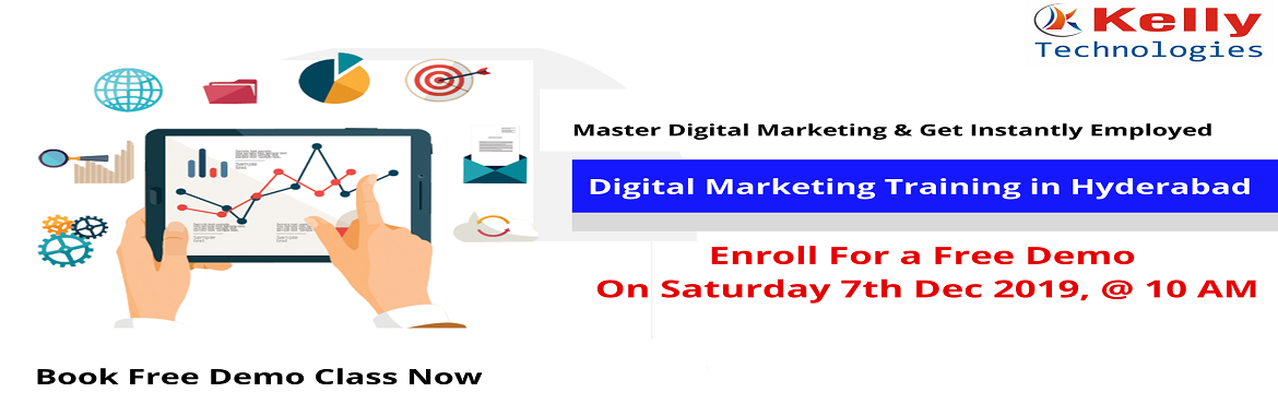 Book Online Tickets for Enroll for the Kelly Technologies Free D, Hyderabad. About The Demo: Digital Marketing Free Demo Session which is scheduled by the Kelly Technologies is mainly intended to upskill the career knowledge of the aspirants through expert's interaction. Attending this demo session will help you to buil