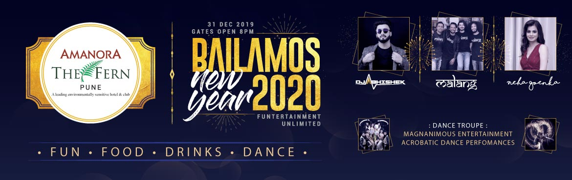Book Online Tickets for New Years Eve BAILAMOS 2020, Pune.   Get FLAT 10% Off on this Event. Use Code: ENOS256 Offer Valid Till 31st Dec    This magnificent open-air venue lets you groove to the hottest music in town played by best Bollywood DJ of Pune DJ Abhishek right under the sta
