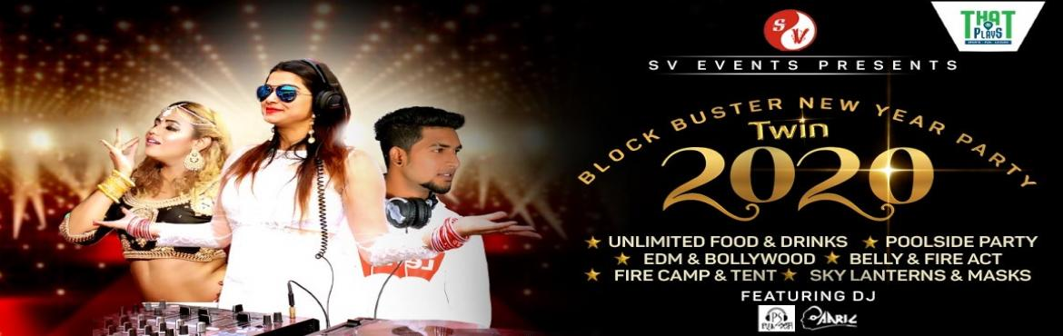 Book Online Tickets for TWIN 2020 BLOCK BUSTER NEW YEAR PARTY, Bengaluru. Event TWIN 2020 New year gig. The most awaited Bollywood and EDM night of Banglore is all set to drive you Crazy on this 31st at the classiest Venue of Banglore, That plays (magadi main road)There won\'t be a dull moment with the incredibly talented