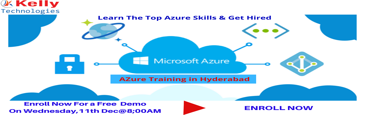 Book Online Tickets for Register For Microsoft Azure Free Demo S, Hyderabad. Register For Microsoft Azure Free Demo Session on Wednesday, 11th Dec@8:00AM, Attended By Experts-Kelly Technologies In Hyd About The Demo: Planning on building your career in Microsoft Azure cloud platform? Get to interact wi