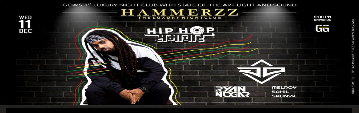 Book Online Tickets for Hip Hop Samachar - Features JD GULLYGANG, Baga. This Wednesday edition of Hammerzz's Hip Hop Samachar night brings in Goa the multi-talented DJ Joel D'Souza, also know as JD from GullyGang, who hails from the streets of Mumbai and is the hype man for DIVINE (GULLYGANG). JD GullyGang is