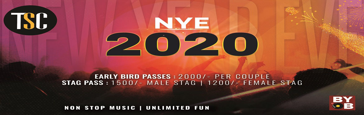 Book Online Tickets for NYE 2020 - TSC, Gurugram. NYE 2020 TSC Rock On this New Year Eve with your Gang!! 2020 is almost around the corner!! What is a better way to welcome it than partying at your favorite #TSC??!!Get your friends, drink, and dance on the foot-tapping music played by in-house