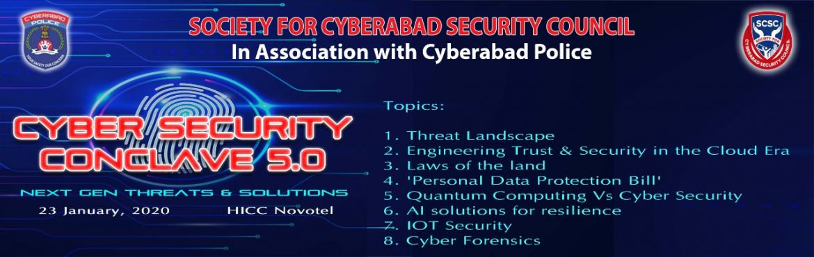 Book Online Tickets for SCSC Cyber Security Conclave, Hyderabad.  India is witnessing a significant economic and technological transformation due to growing business opportunities in a number of industry domains such as Banking & Financial Services (BFS), Retail, Manufacturing, Pharma, Healthcare, Travel