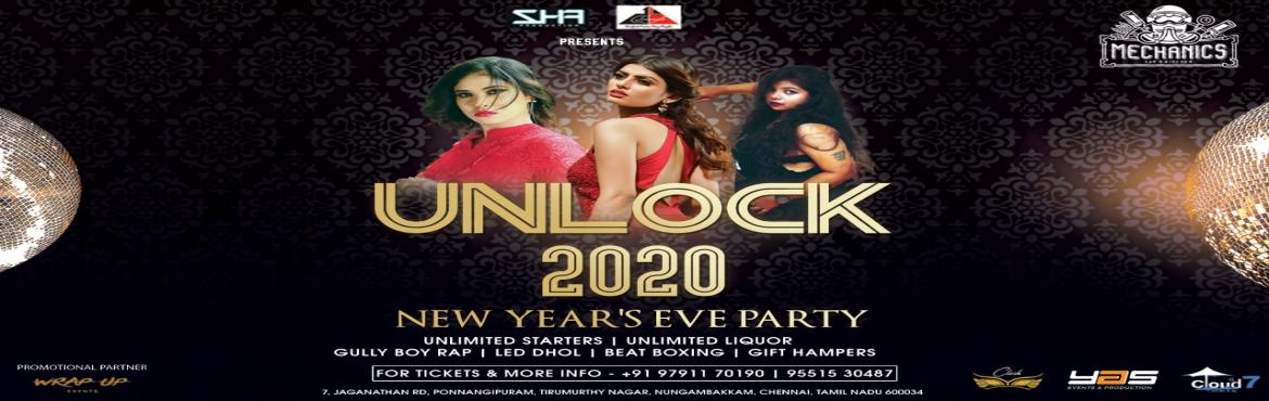 Book Online Tickets for Unlock-2020 ( Elite New Year Party ), Chennai. Chennai get ready for kick-ass New Party in Town ! Time for Gully Boys Rap, Beat Boxing and Massive Live Led Dhol session in the house and yeah lotta goodies on your way ! Place is Mechanics Garage Bar and Kitchen Nungambakkam This new year let