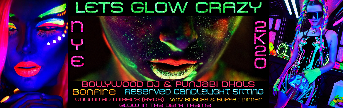 Book Online Tickets for Lets Glow Crazy NYE 2K20 Bonfire Party, Delhi Ncr. Why ours is the BEST Party in Town & a 5 STAR EXPERIENCE at Throw Away Prices:  No need to burn your legs standing as we are offering Reserved Candlelight Sitting to EVERY Couple, you can safely keep your stuff, dance to the Bollywood numbers &am