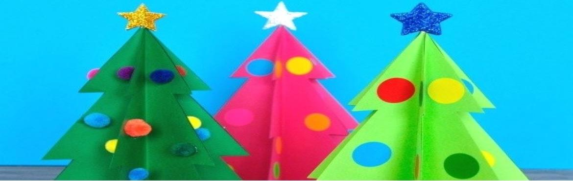 Book Online Tickets for Christmas Crafts, Chennai. Crafts are a way to keep your kid\'s brain active. Crafts improve motor coordination and concentration in kids. Above all, creating something beautiful gives immense pleasure to the soul. So join in for a fun-filled workshop on Paper Christmas tree m