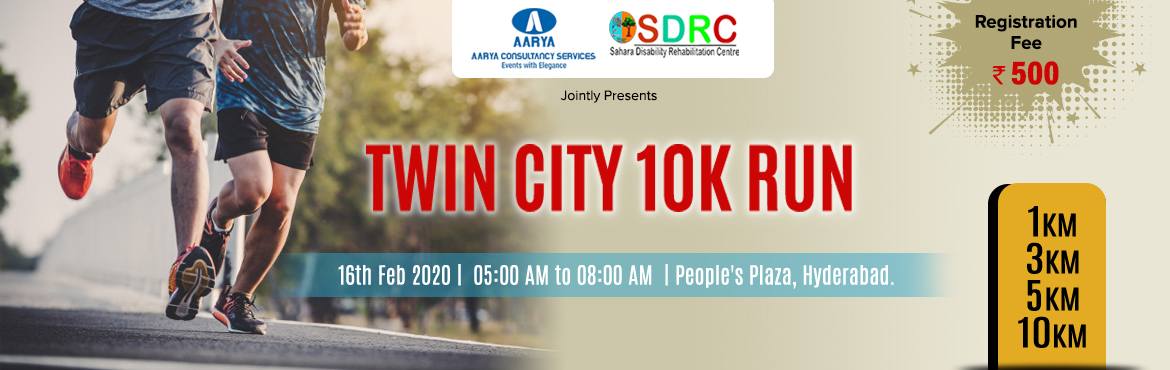 Book Online Tickets for Twin City 10K RUN 2020, Hyderabad.   \