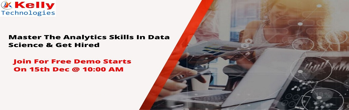 Book Online Tickets for Book Your Seat For Data Science Free Dem, Hyderabad. About The Demo: Data Science is everywhere. Data can be used in simultaneously in many ways that add a new value to the business development and can be realized only after the number that has been crunched. Data Scientist is considered as the &
