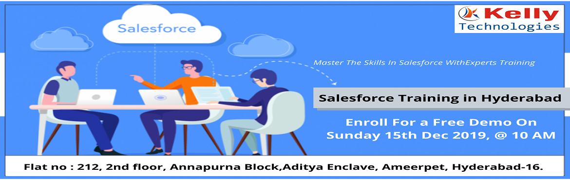 Book Online Tickets for Get Registered For Salesforce Free Demo , Hyderabad. About The Event- Salesforce as CRM helps organizations to identify customer needs, enabling them to make better decision, reduce costs and delivers better customer satisfaction. At present there is a huge demand for skilled experts in Sal