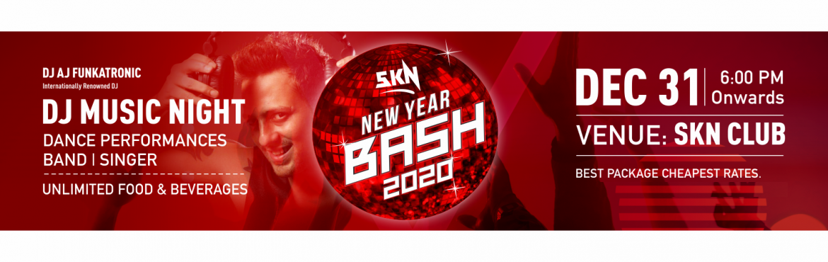 Book Online Tickets for SKN NEW YEAR BASH 2020, Bengaluru. The time is near for a new yearThe Countdown has begunBe ready to party hard and have the time of your life as you bring in 2020 SKN Club presentsSKN NEW YEAR BASH 2020.............Go Red and BlackIf you\'re looking for an unforgettable party with yo