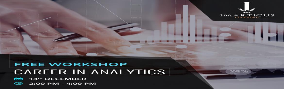 Book Online Tickets for Careers in Analytics, Mumbai. Agenda     Introduction to Data Analytics Importance of Python in Data Analytics Key skills and qualifications required for a career in Analytics Enablers to launch your Analytics career Interact with industry experts