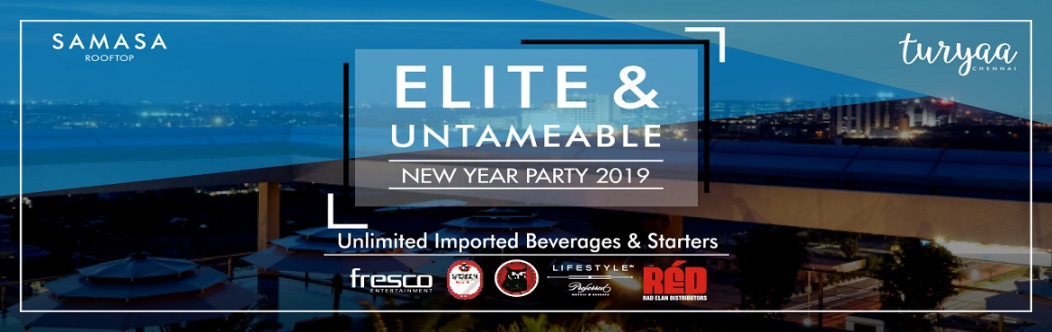 Book Online Tickets for Elite and Untameable New Year Party 2020, Chennai. Everyone has the impulse to be elite. Elite and Untameable new year party is curated exclusively for the premium and those who aspire to be. Prep up and dress up its time to go wild on the floor. Remember spectacular city view, sensational ambience,