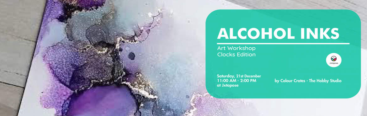 Book Online Tickets for Pigments of Your Imagination, Hyderabad. Pigments of your Imagination   Module 1 21st Dec 2019 11am -1.30pm  Make a clock Rs 1200/-   Understand how inks work and how to use them to create a whimsy Dragonfly painting. Learn about Alcohol Ink and Yupo paper. Make perfect circles/dots w