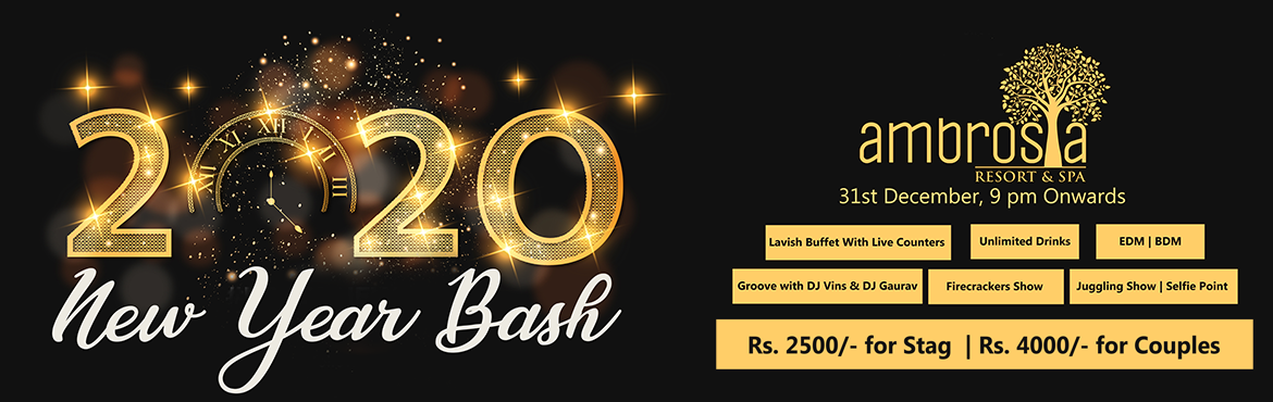 Book Online Tickets for New Year Eve 2020 Ambrosia Resort, Pune.  Ambrosai resort is organizing the new year event. Highlights: Lavish Buffet with live counters. Unlimited Drinks. EDM|BDM. Groove with DJ Vins & DJ Gaurav. Firecrackers Show. Juggling Show| Selfie Point.