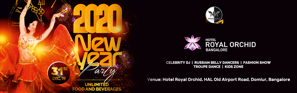 Book Online Tickets for Royal New Year s Eve 2020, Bengaluru.  Royal New Year\'s Eve 2020 Nightingale Network Presents Bangalore's Most Spectacular New Year's Celebration. Royal New Year\'s Eve 2020 At Royal Orchid Old Airport Road. Bangalore is a place where you can live out your dreams of cel