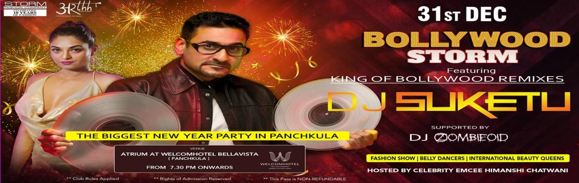 Book Online Tickets for Bollywood Storm New Year Celebration wit, Panchkula. This New year presenting the magical venue Welcom Hotel, Bellavista. Join us to bid adieu to 2019 at the most Luxurious Couple only Party of the Tricity(Chandigarh , Panchkula and Mohali) with the King of Bollywood remixes DJ Suketu at the Atrium of