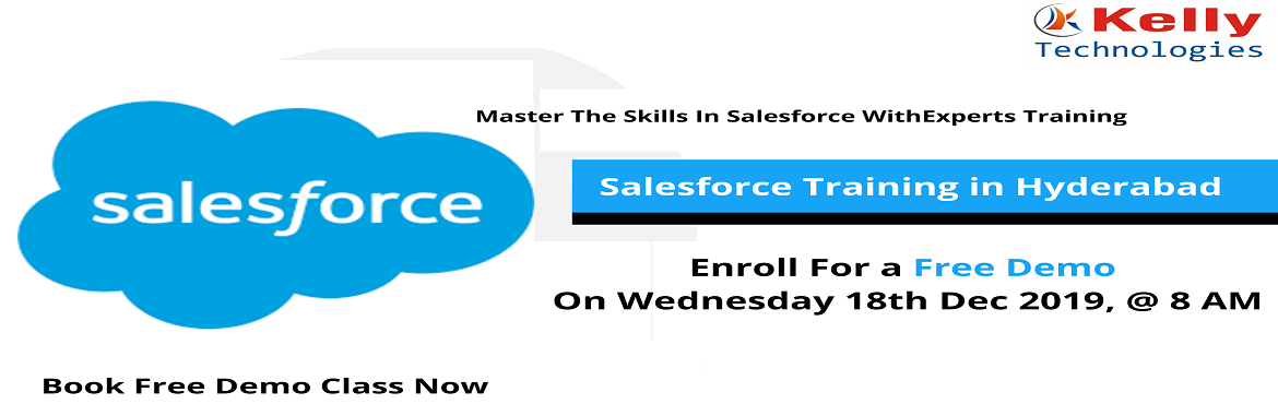 Book Online Tickets for Get Registered For Salesforce Free Demo , Hyderabad. About The Event- Salesforce as CRM helps organizations to identify customer needs, enabling them to make better decision, reduce costs and delivers better customer satisfaction. At present there is a huge demand for skilled experts in Salesforc