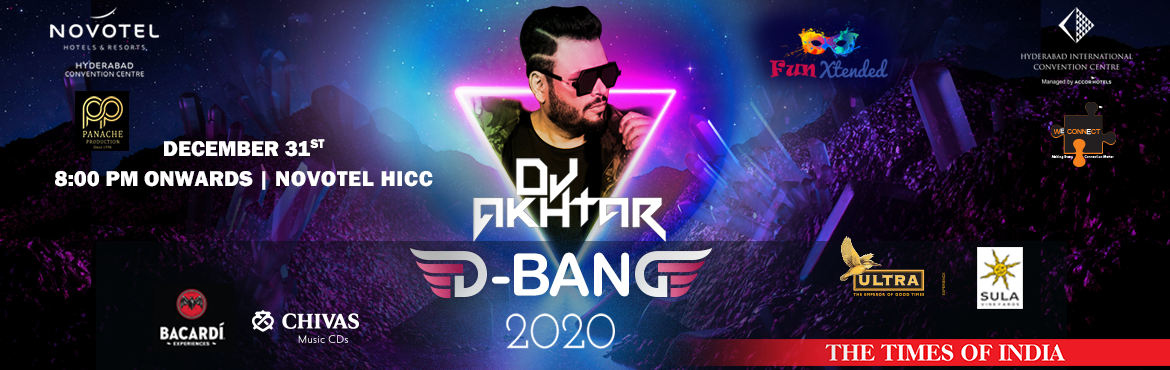 Book Online Tickets for Fun Extended D-Bang 2020, Hyderabad. Artist: DJ Akhtar  Presenting Cyberabads biggest New Year Party Fun Xtended- DBang 2020 The Premium Edition in association with Times of India and Panache Productions at HICC ARENA (Hyderabad International Convention Centre, managed by Accor).&