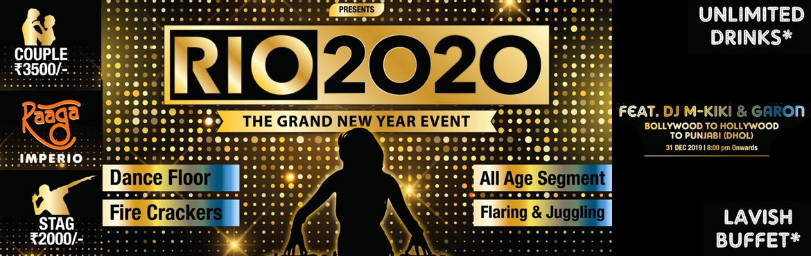 Book Online Tickets for RIO New Year 2020, Dattwadi. Let\'s celebrate this New year in RIO style! A Grand welcome to the year 2020 with everything Grand around you.A New year eve covering all age segments with exclusive varieties of entertainment like Cold fire, Flaring & Juggling show, Audio visua