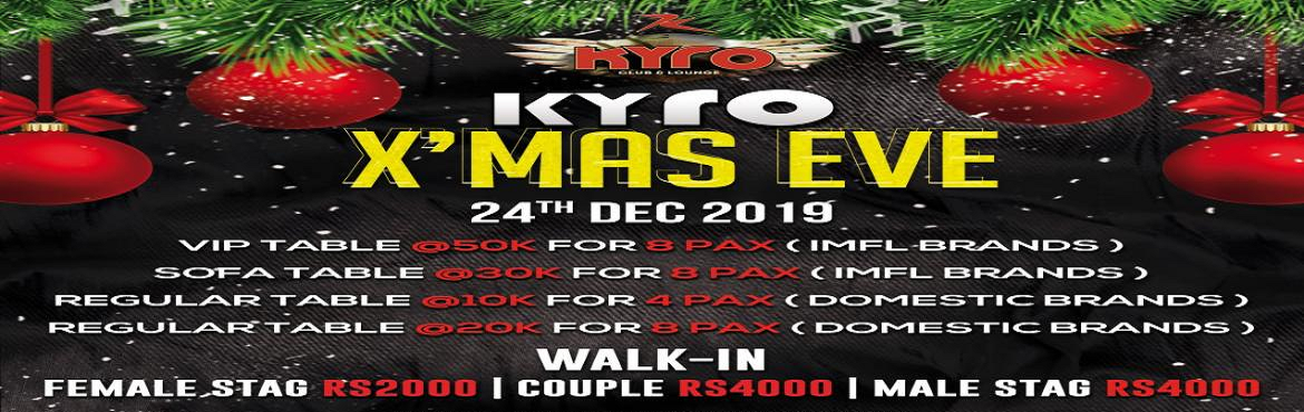 Book Online Tickets for Kyro XMas Bash, Mumbai.  This Christmas won\'t be like the rest. Its time to take your party mood to next level. Grab your passes and Join us for Kyro X\'mas Eve at Kyro from 8pm onwards on 24th December. So come and enjoy a night filled with entertainment, music and m