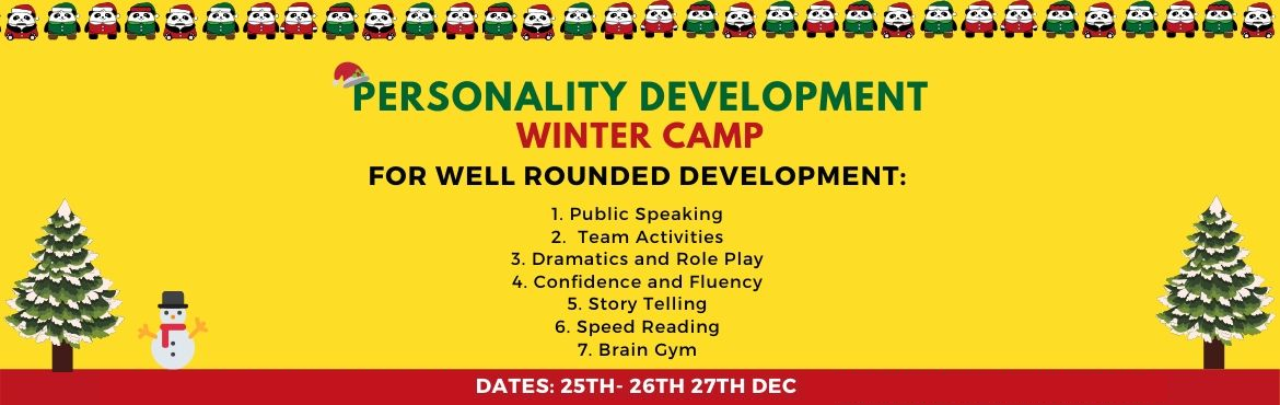 Book Online Tickets for Personality Development Winter Camp by K, Indore. Personality Development Camp in Indore   #WinterCamp #ForKids   Winter Vacation are around the corner! Want your child to learn as well as have fun?      Kaizen Academy (based in Delhi) is hosting a 21st Century Workshop for Kids in Indore!   &