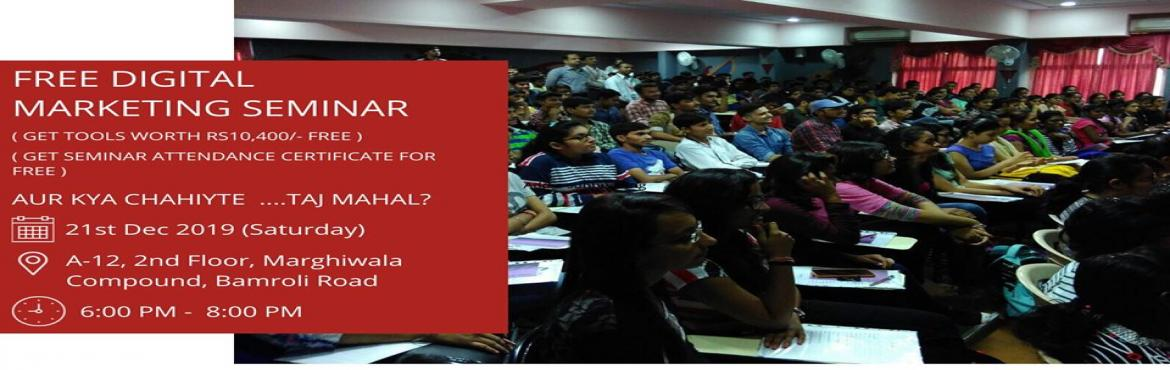 Book Online Tickets for Free Digital Marketing Seminar (Get Tool, Surat.  21ST DEC 2019 (Saturday) Free Seminar Digital Marketing by Surat Diary Get 100% JOBS IN DIGITAL MARKETINGMAKE YOUR OWN DIGITAL MARKETING AGENCYGROW YOUR BUSINESS USING DIGITAL MARKETINGNo Experience Required.Let's think about New Technolo
