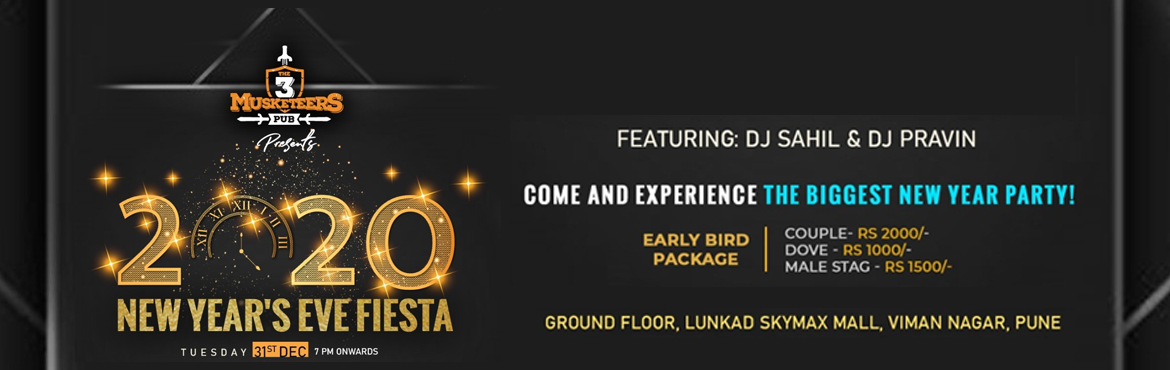 Book Online Tickets for T3M New Years Eve Fiesta, Pune. GET READY TO EXPERIENCE THE MESMERIZING OPEN DANCE FLOOR AND ALSO GET TO SEE THE LIVE PERFORMANCES OF THE VARIOUS POPULAR SINGERS OF THE CITY . THIS NEW YEAR PARTY TO RING IN STYLE AND PANACHE. GET READY TO BE BLOWN OFF AND DANCE TO THE TUNES OF DJ N