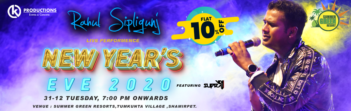 Book Online Tickets for New Years Eve with Rahul Sipligunj at Su, Hyderabad.  Get FLAT 10% Off on this Event. Use Code:ENRS293 Offer Valid Till 31st Dec  Join us for one of the most happening New Year Eve Gathering in Town where we bringing the experience of nightlife &also we have bigboss season3 winner