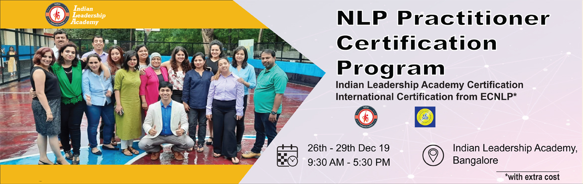 NLP Practitioner Certification Program - Bengaluru ...