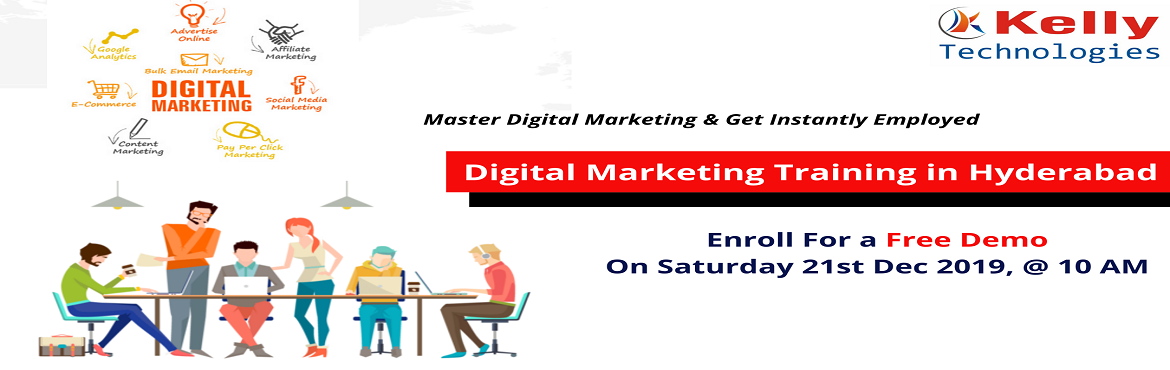 Book Online Tickets for Sign Up For Digital Marketing Free Demo , Hyderabad. About The Demo: Digital Marketing is one among the most progressing online marketing platforms which is currently the latest buzzword & across various domains. Availing a career in this highly dynamic profession of Digital Marketing will surely l