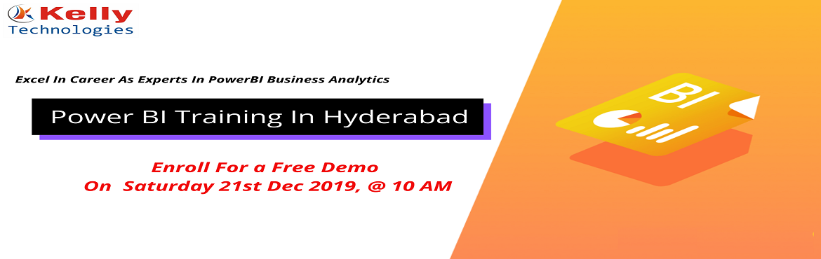 Book Online Tickets for Learn The Applications Of Power BI Techn, Hyderabad.  About The Event- Aspirants who are willing to secure a career in the leading business analytics technology of Power BI can now be benefited from the Kelly Technologies advanced Power BI training program. The expert trainers here will help the