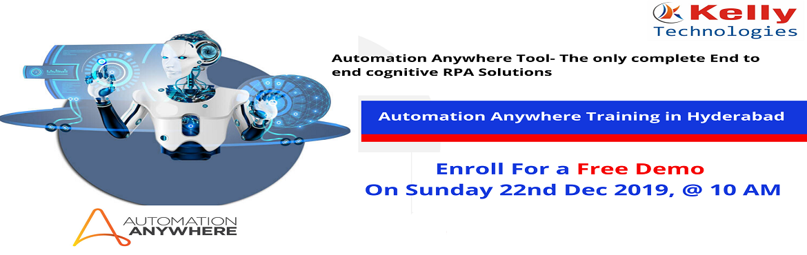 Book Online Tickets for Indulge In The RPA Profession Career By , Hyderabad.  About The Automation Anywhere Demo: Automation Anywhere is being considered to be one among the highly profiting and eminent tool which is being used in the process of Robotics Automation. Most of the companies are nowadays investing more on A