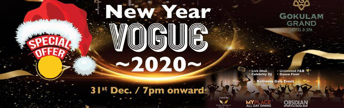 Book Online Tickets for NEW YEAR VOGUE 2020, Bengaluru.  With bigger and better than last season. Join us at\'NEW YEAR VOGUE 2020\'- with history of best new year experience we are getting you with best Nye pool party in town ,in heart of Bangalore city with easiest access . Over 6 years