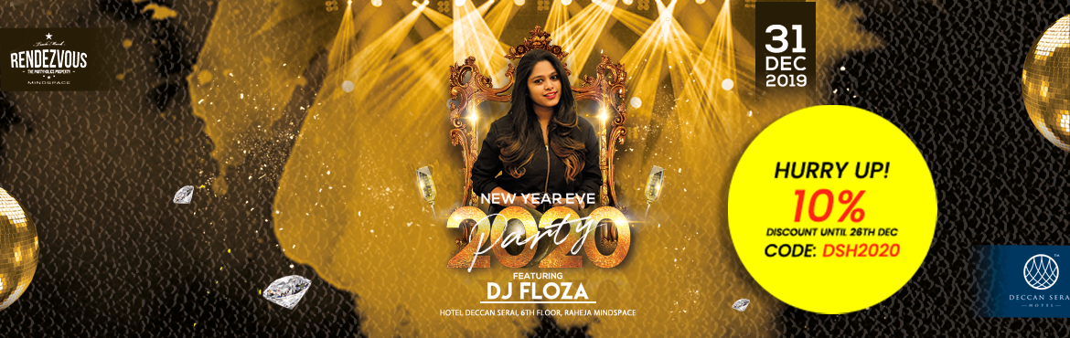 Book Online Tickets for NYE2020 @ Rendezvous Mindspace, Hyderabad. Rendezvous Mind Space is back with New Year celebration NYE 2020.   Just come and celebrate this Grand New Year Party with your family & loved one\'s at Rendezvous Mind space with DJ FLOZA DJ Night Party filled with biggest Bollywood entertainmen