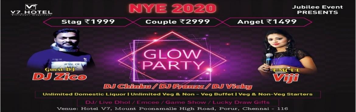 Book Online Tickets for GLOW IN THE DARK, Chennai. Glow Party NYE 2020 GLOW IN BOLLYWOOD Tickets:STAG 1999COUPLE 2999Angel 1499. Music-Hollywood /Bollywood /Kollywood Live DJ spinning the best of Commercial musicDJ Chinku / Dj Franzz Guest Dj Dj Zico(Spinning the best of Commercial music. Performance
